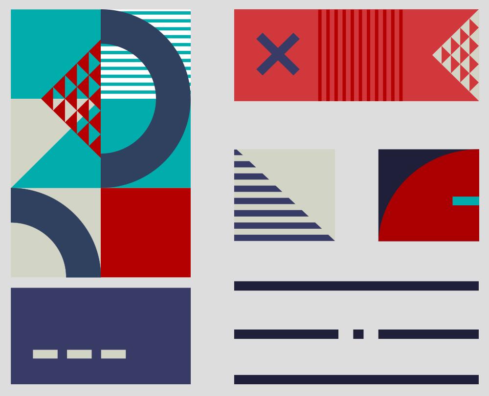 Ilustratie design grafic in stilul Bauhaus